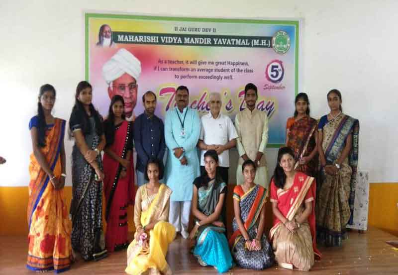 Teacher's Day Celebration at Maharishi Vidya Mandir Yavatmal