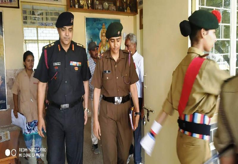 Col. Ramanuj Singh of No. 1, Telangana Girls Battalion, visited MVM Hyderabad for inspection
